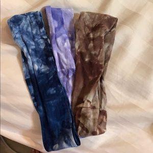 Tye dye hairband set